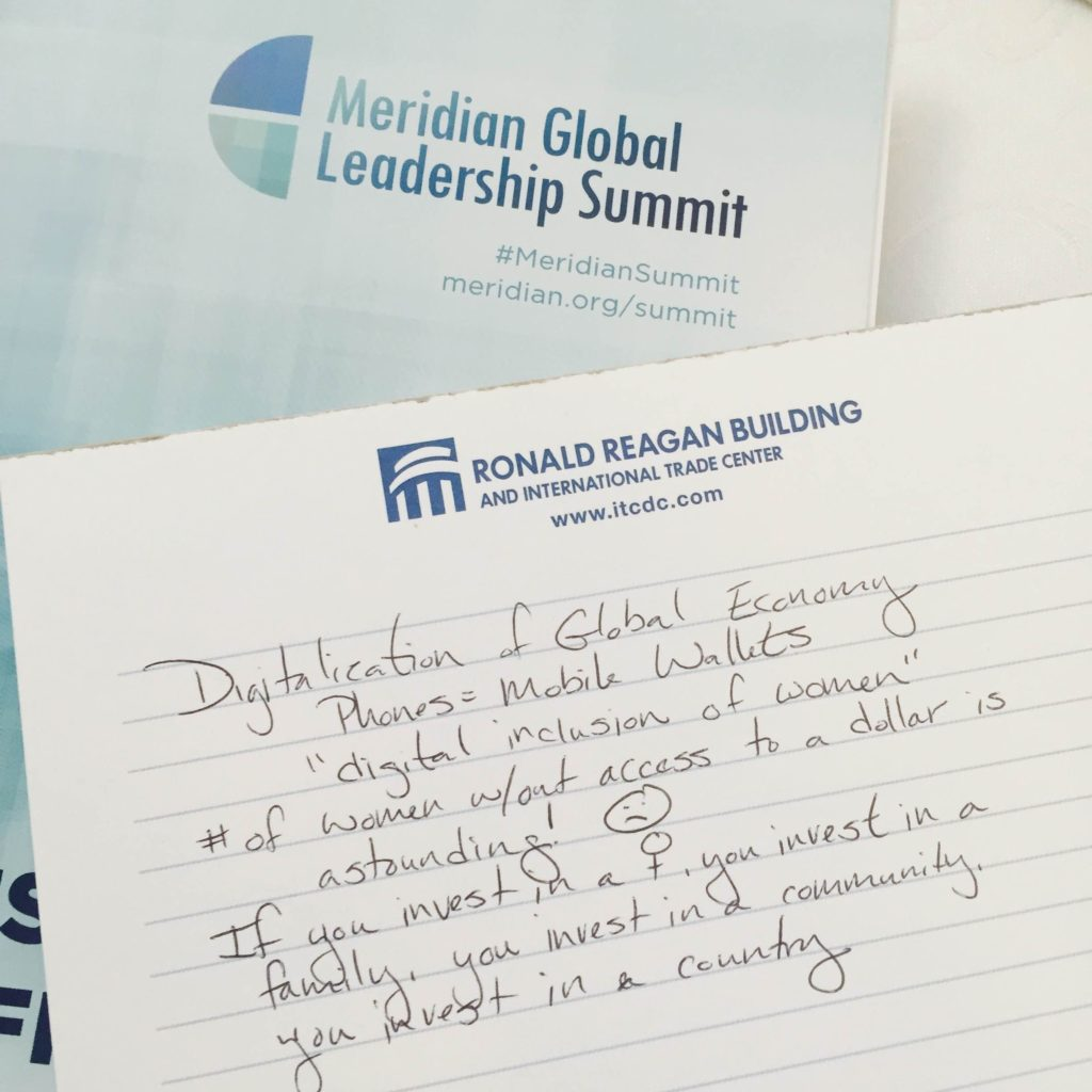 meridian global leadership summit and women notes