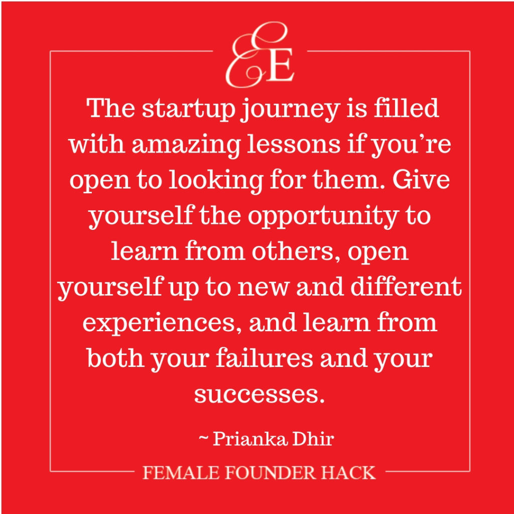 Female Founder Hack from Prianka